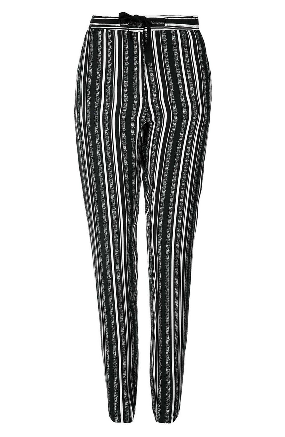 Alternate Image 4  - Topshop Stripe Tapered Slouch Pants