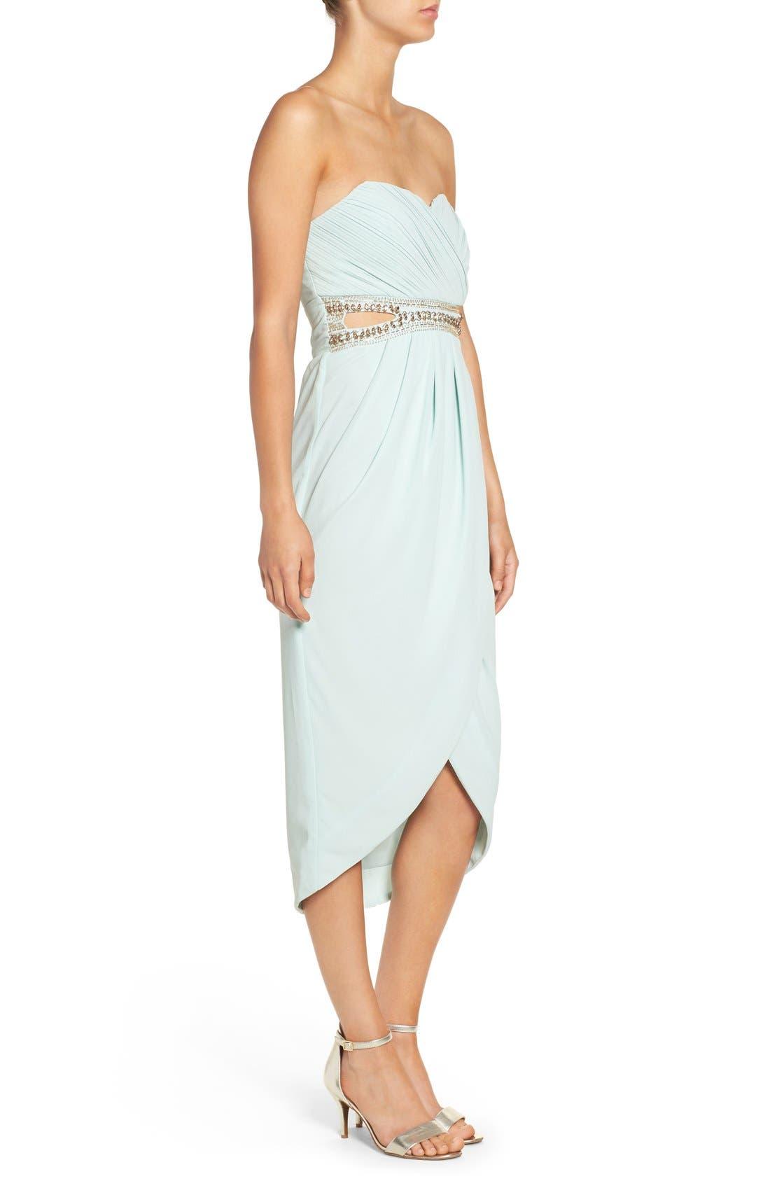 Alternate Image 3  - TFNC 'Catalina' Embellished Strapless Midi Dress