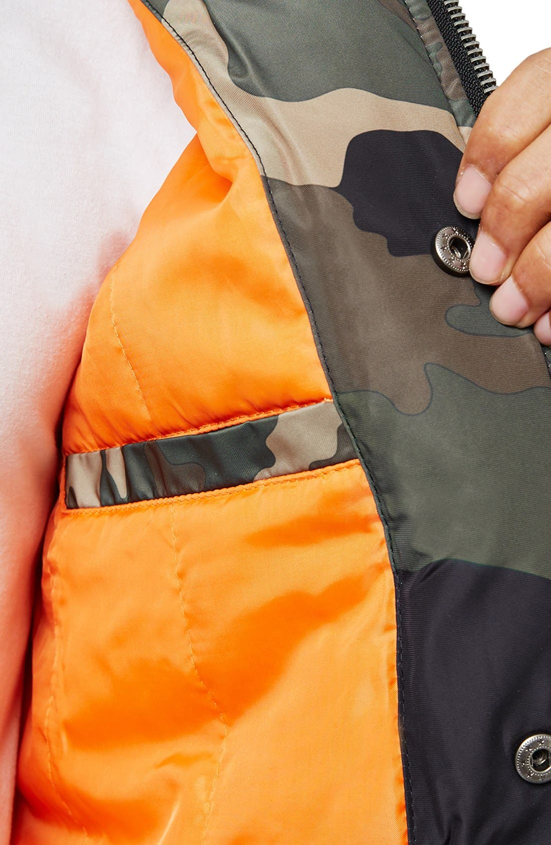 Alternate Image 3  - Topman Camo Print MA-1 Bomber Jacket
