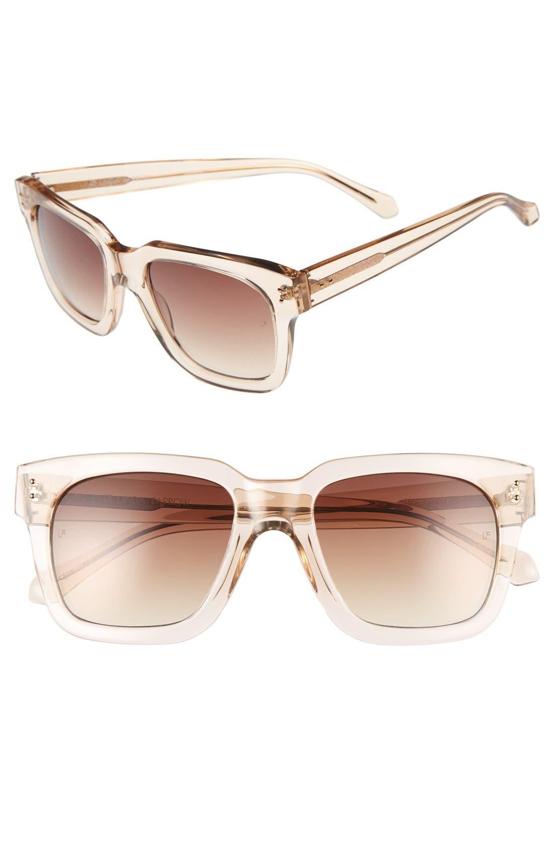 LINDA FARROW 52mm Retro Sunglasses