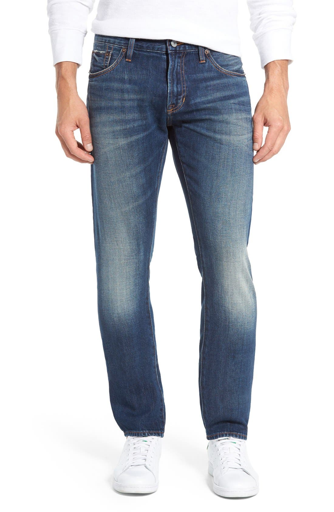 JEAN SHOP Slim Straight Leg Selvedge Jeans