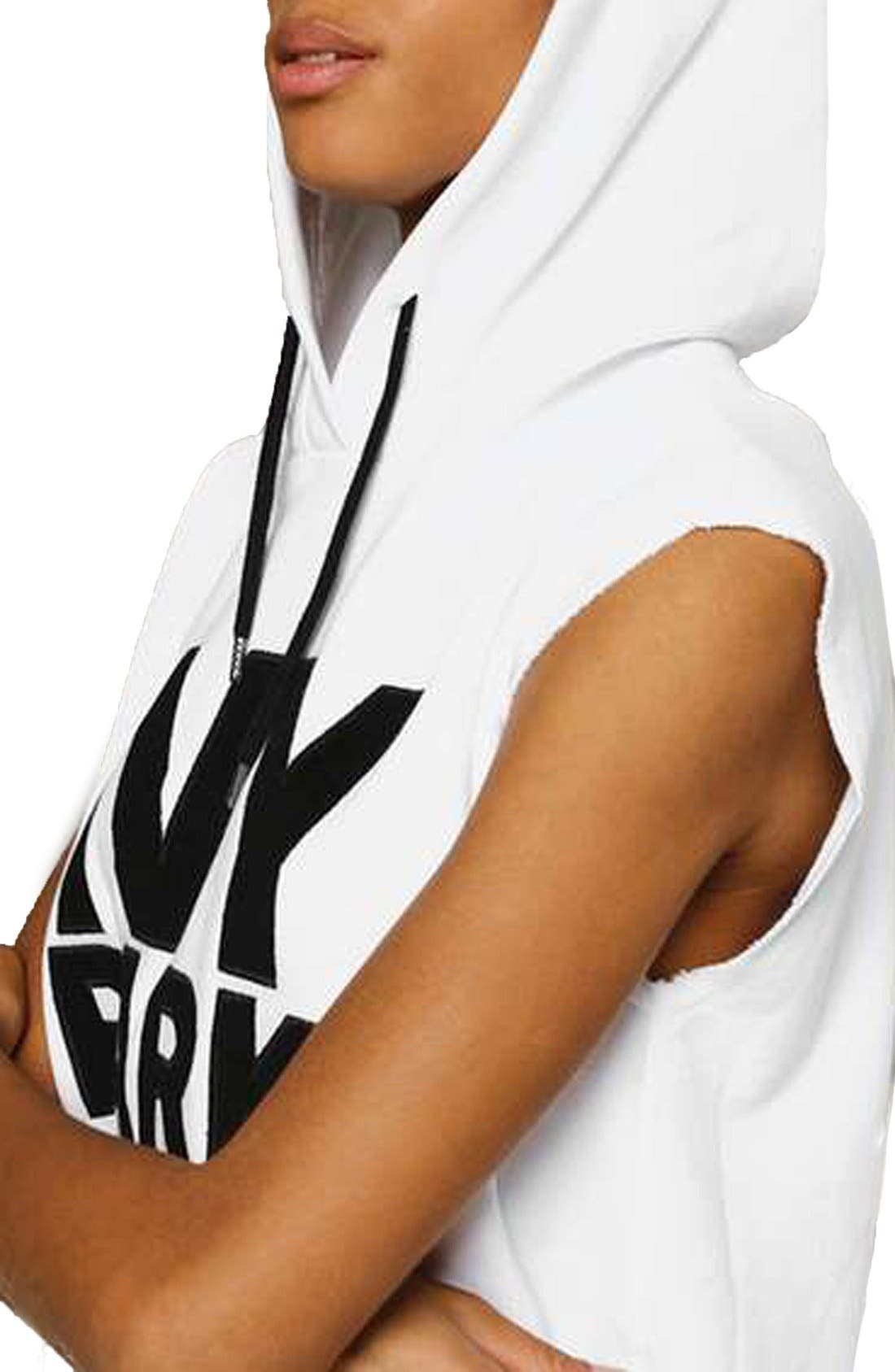 Alternate Image 5  - IVY PARK® Raw Hem Peached Logo Sleeveless Hoodie