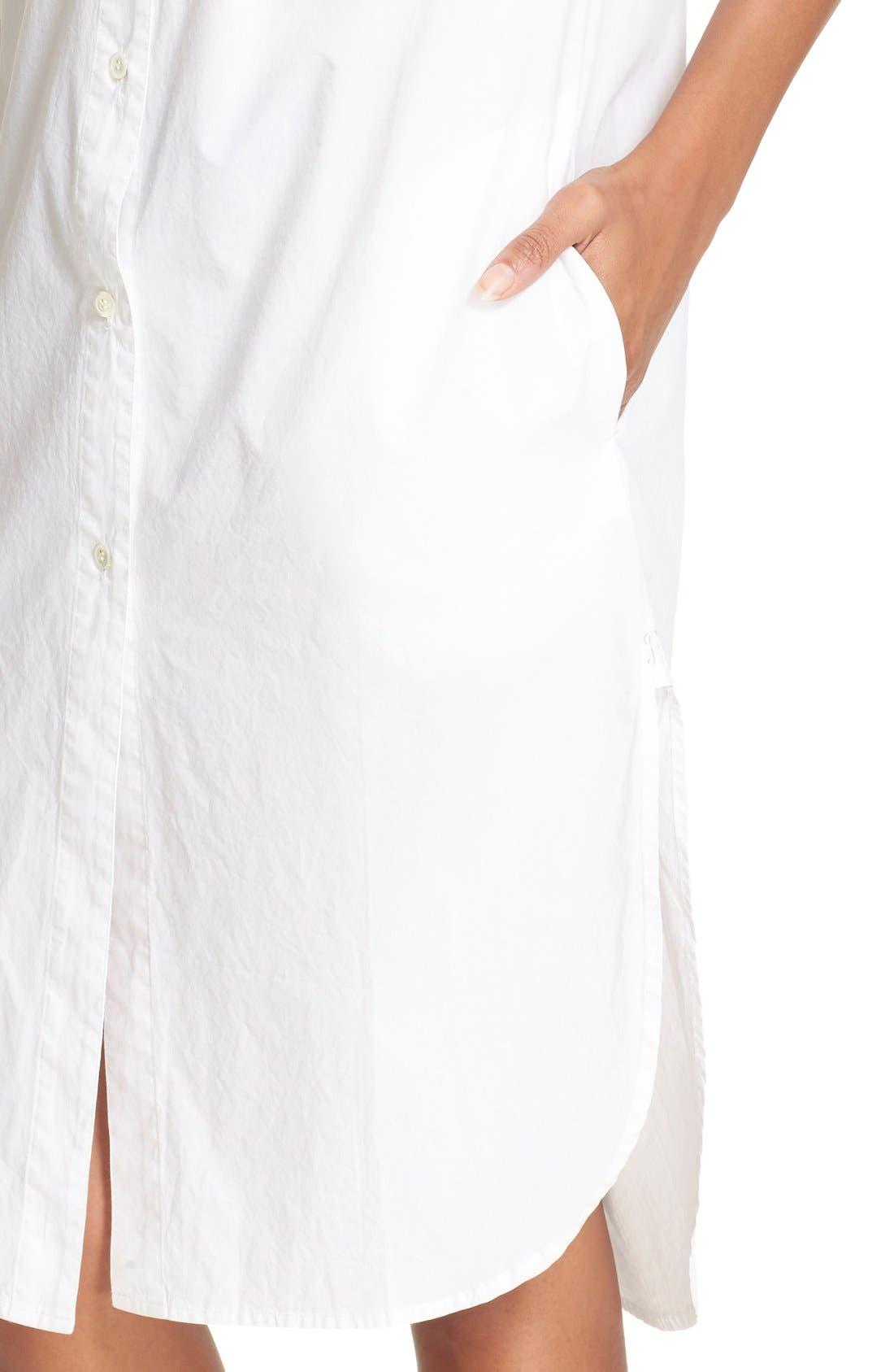 Alternate Image 4  - FRAME 'Le Poplin' Cotton Shirtdress (Nordstrom Exclusive)