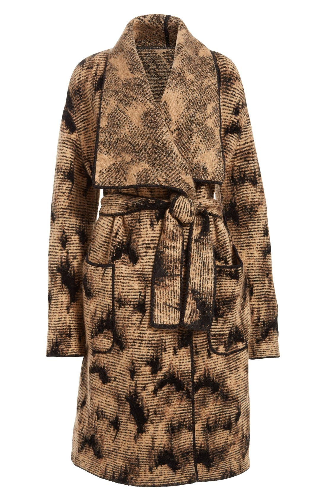 Alternate Image 4  - Fuzzi Jacquard Knit Coat