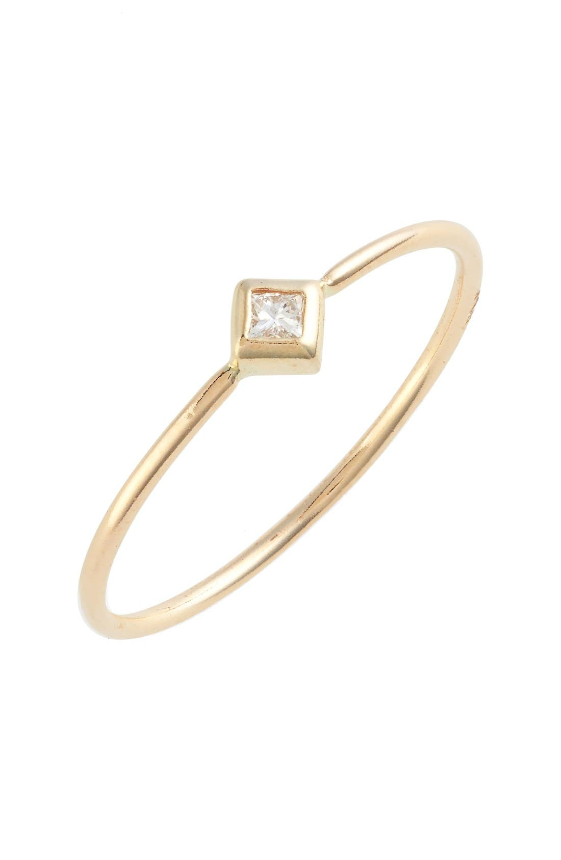 Zoë Chicco Single Diamond Ring