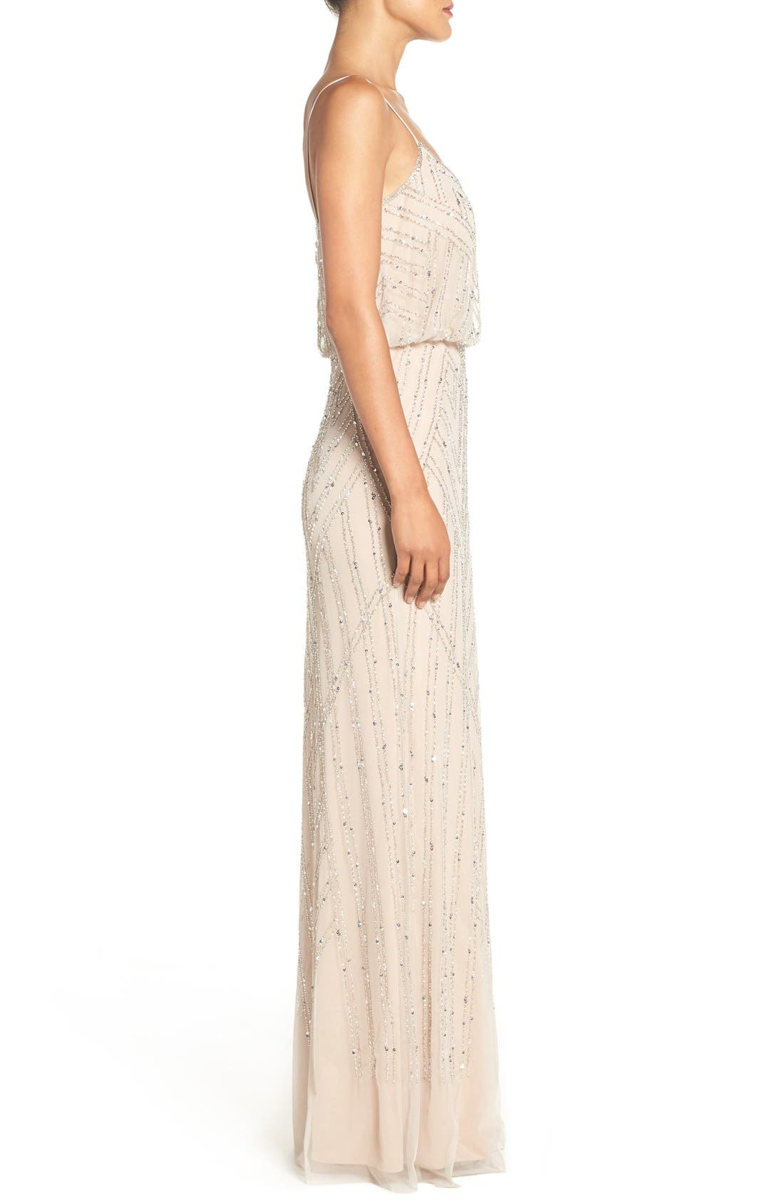 Alternate Image 3  - Adrianna Papell Embellished Blouson Gown