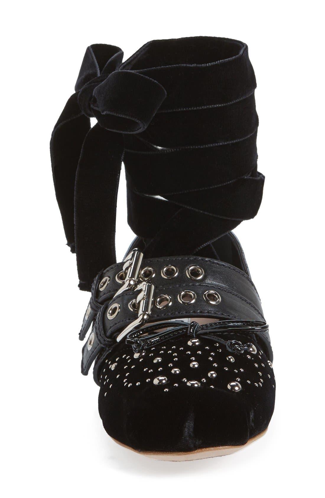Alternate Image 3  - Miu Miu Studded Ballet Flat (Women)