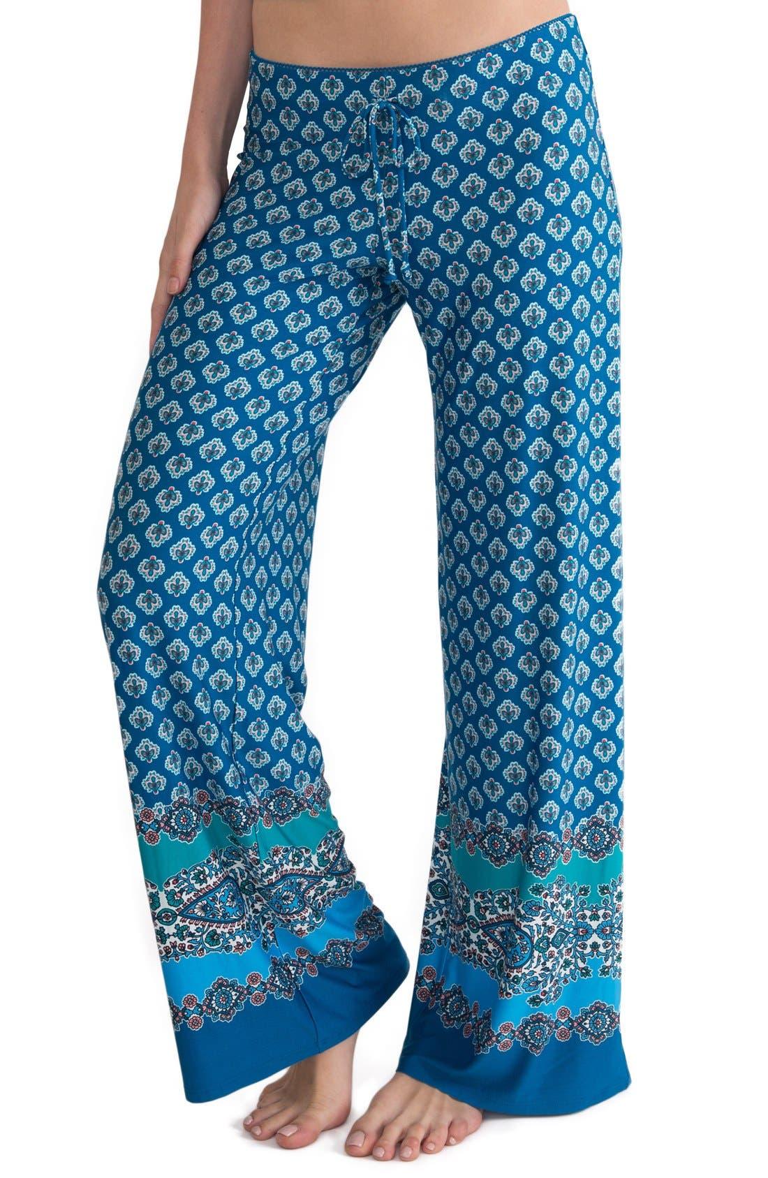 Alternate Image 3  - In Bloom by Jonquil Print Pajama Pants