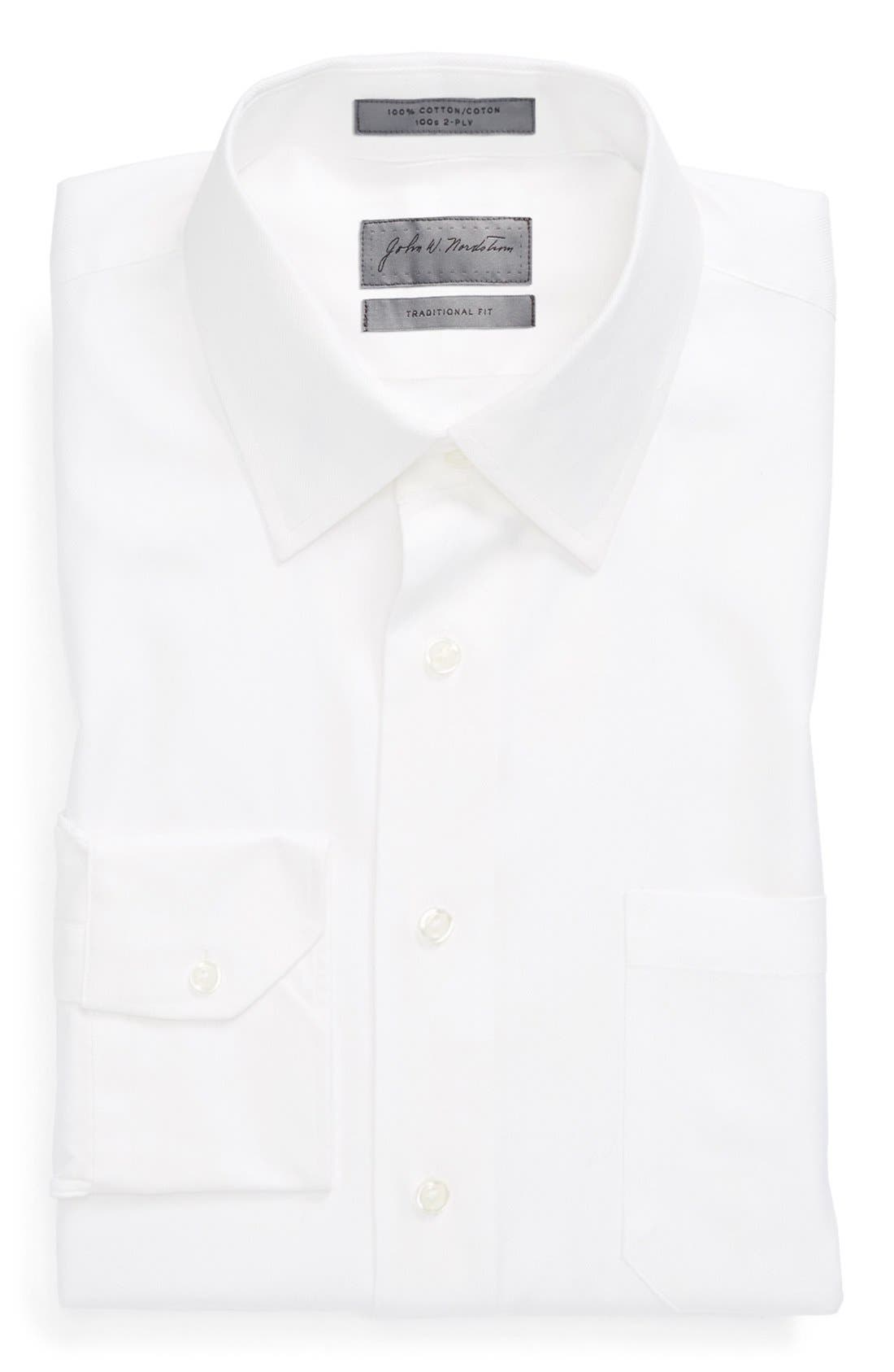 JOHN W. NORDSTROM® Traditional Fit Herringbone Dress Shirt