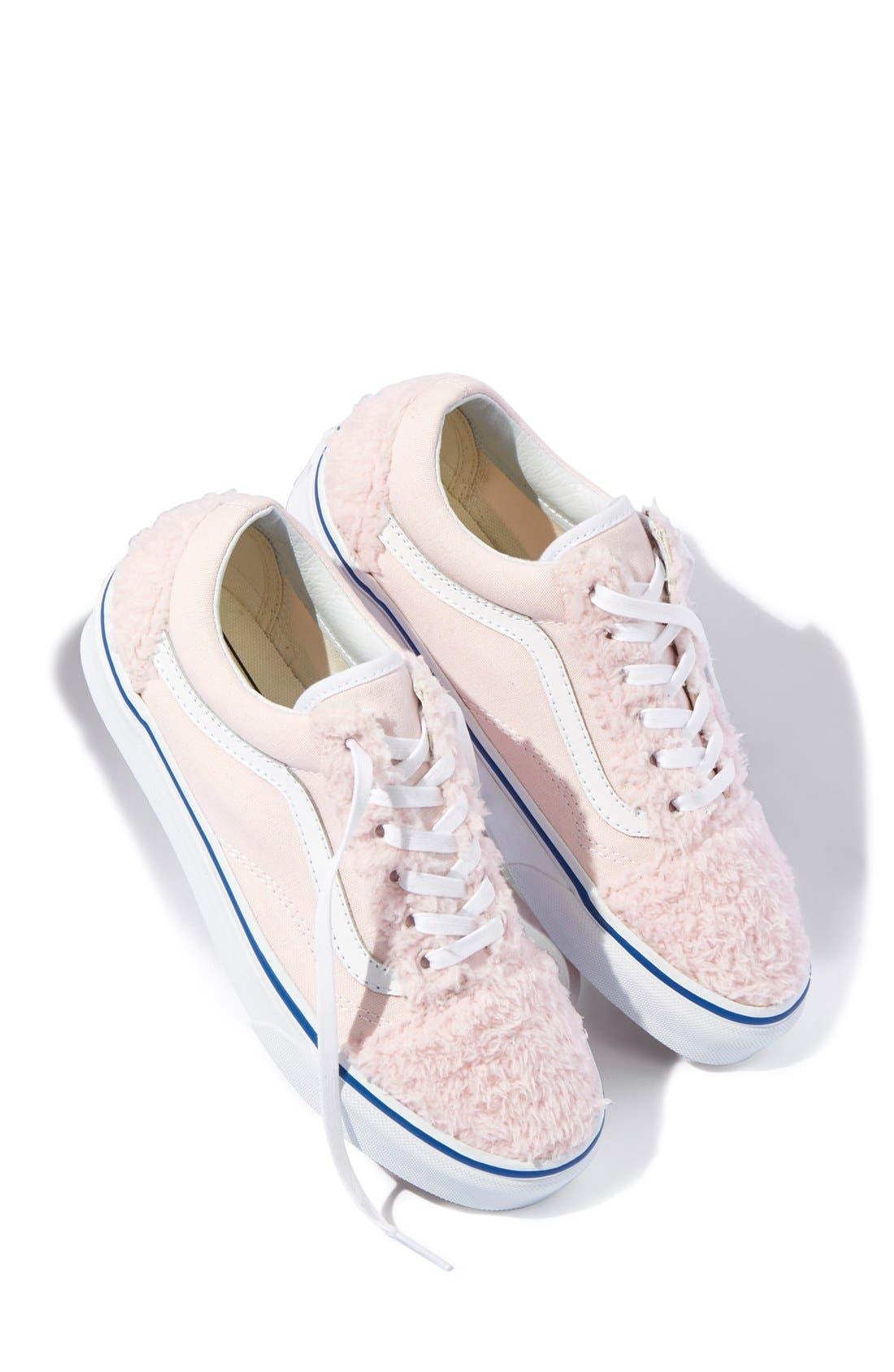 Main Image - Vans 'Old Skool' Faux Shearling & Canvas Sneaker (Unisex) (Nordstrom Exclusive)
