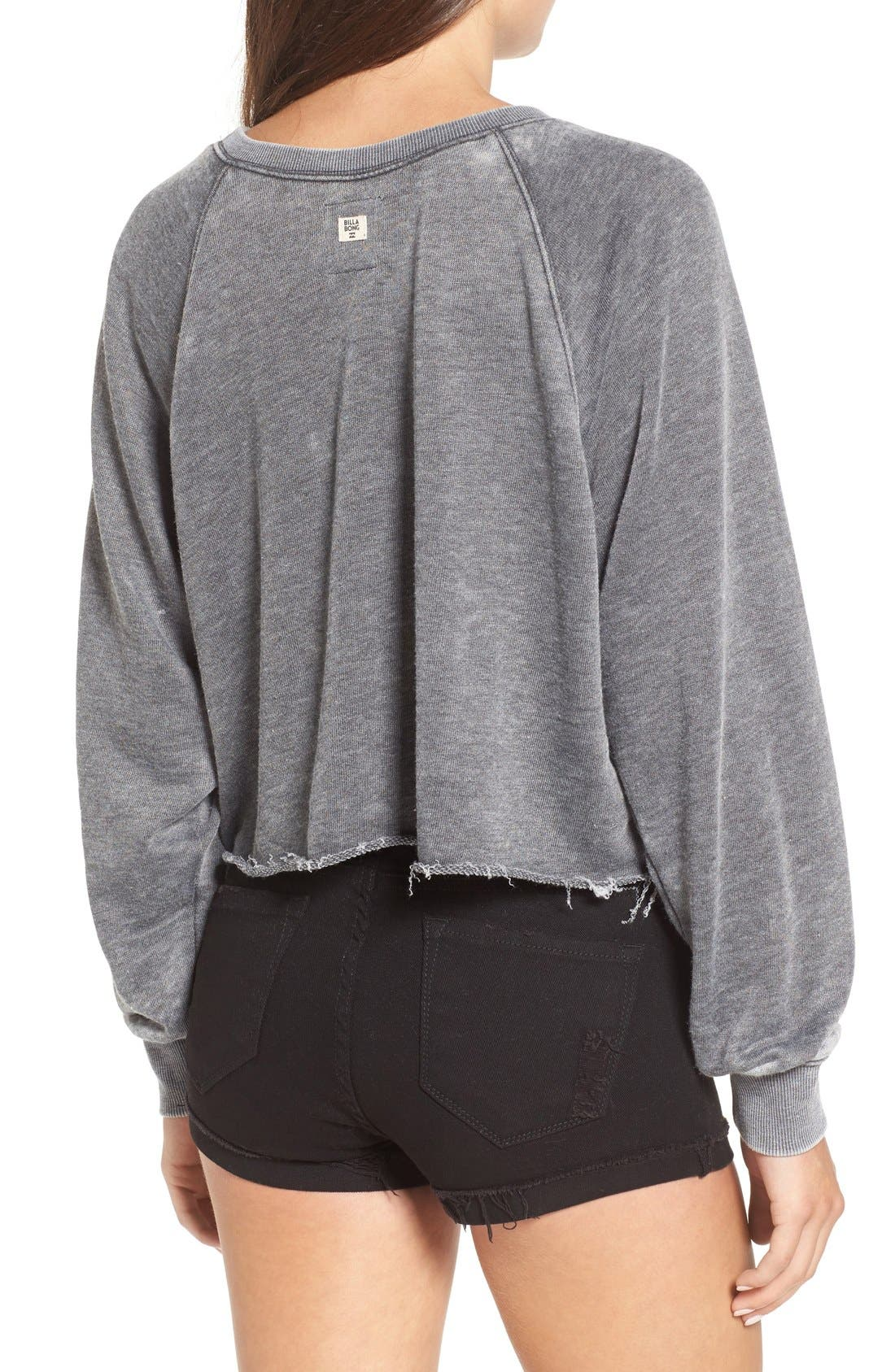 Alternate Image 2  - Billabong 'Again & Again' Crop Sweatshirt