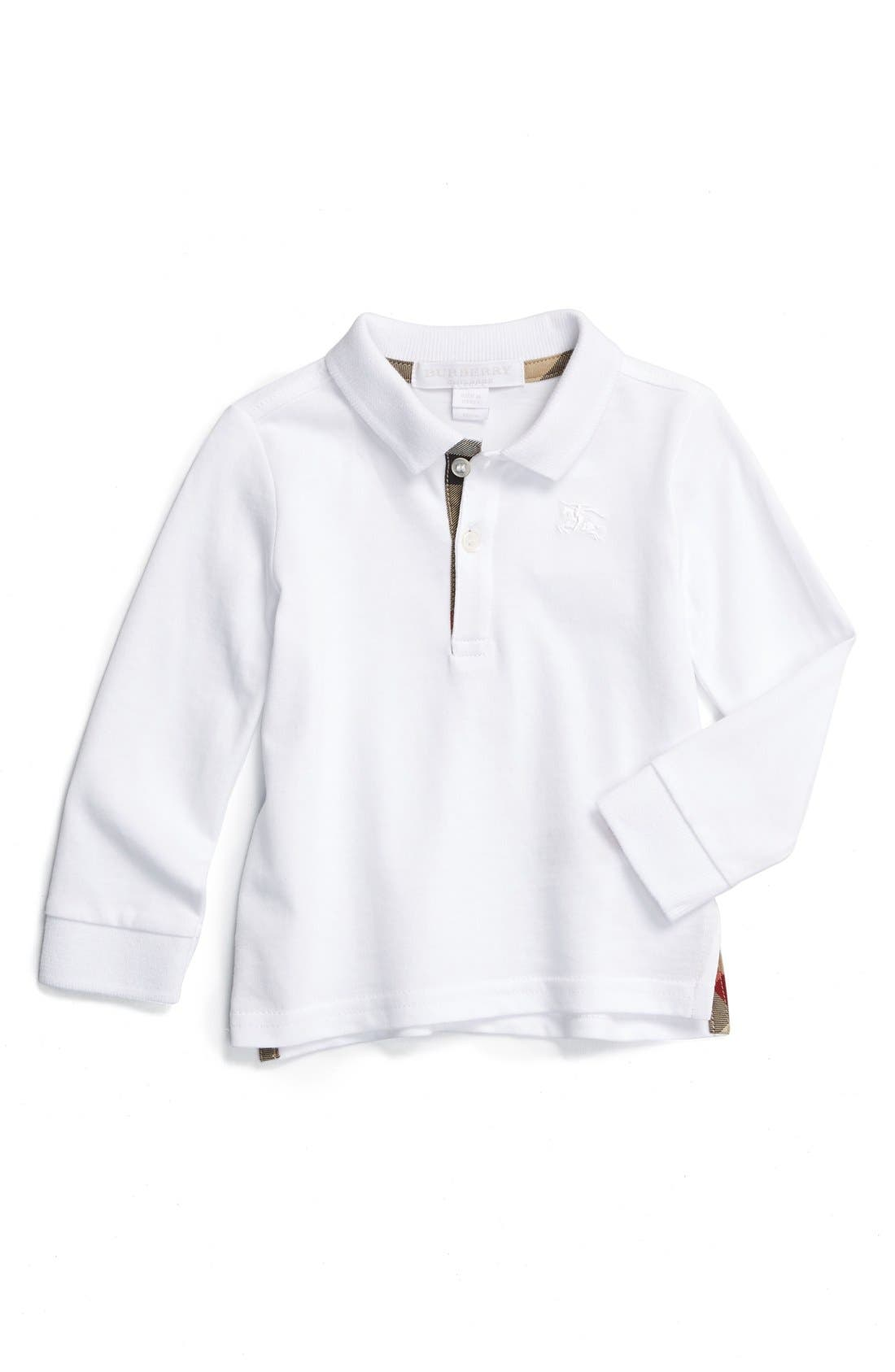Burberry 'Palmer' Long Sleeve Polo (Baby Boys)