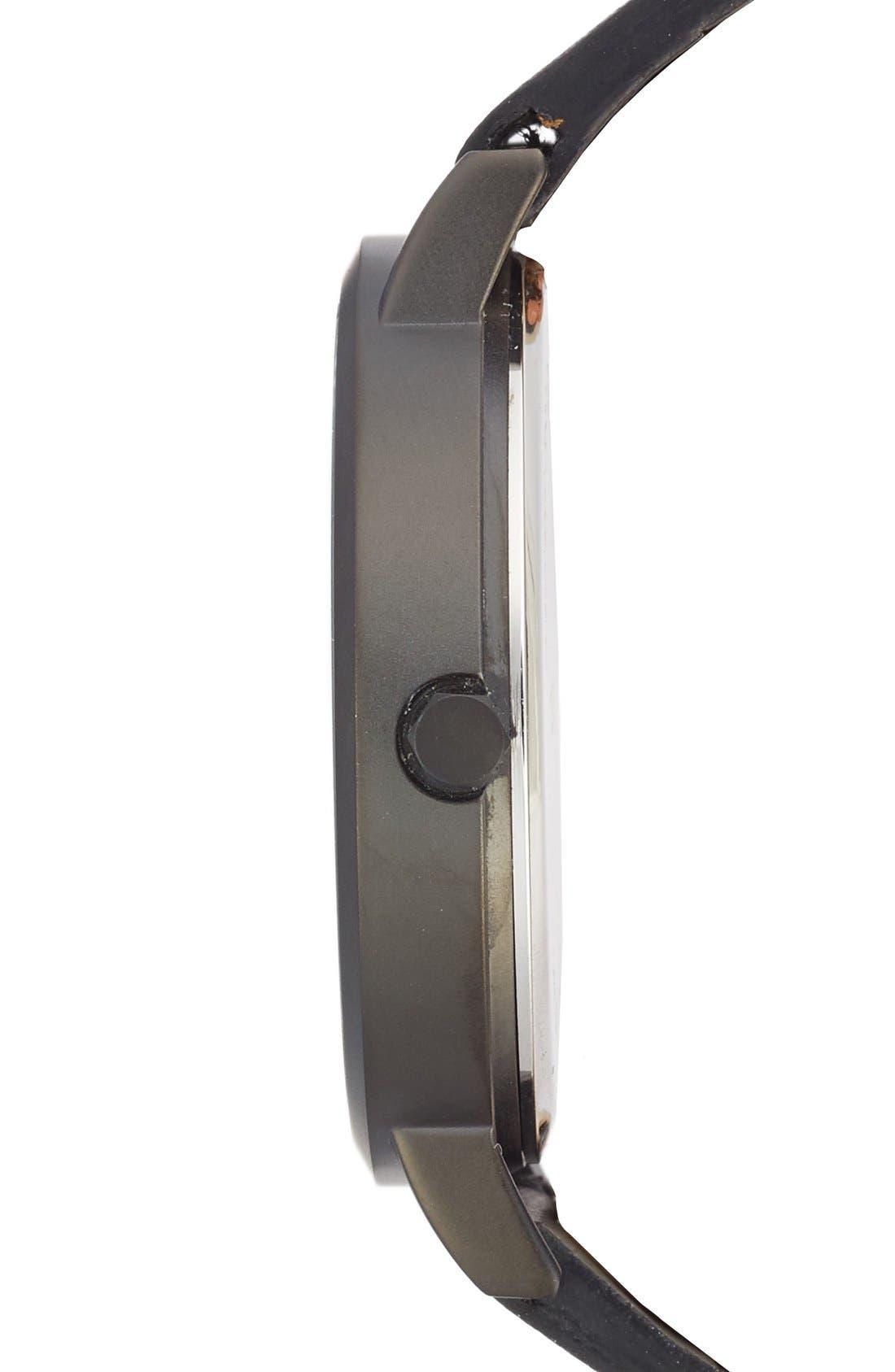 Alternate Image 3  - CLUSE La Roche Marble Leather Strap Watch, 38mm