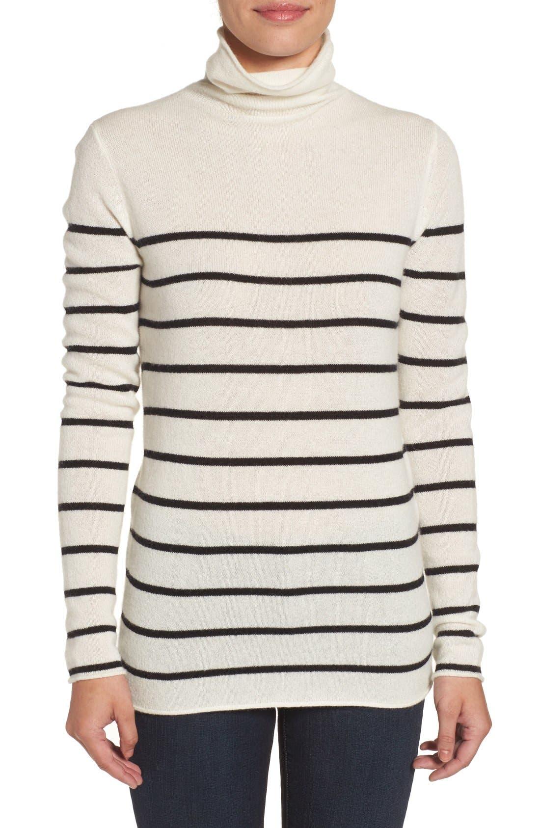 Alternate Image 1 Selected - Halogen® Wool & Cashmere Funnel Neck Sweater