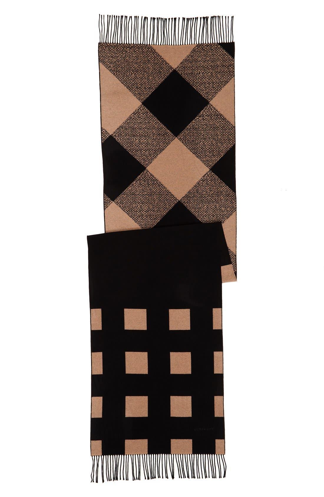 Alternate Image 2  - Burberry Check Print Cashmere Scarf