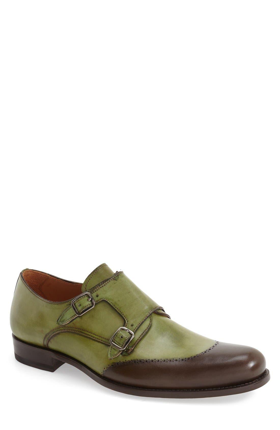 MEZLAN 'Riviera' Double Monk Strap Shoe