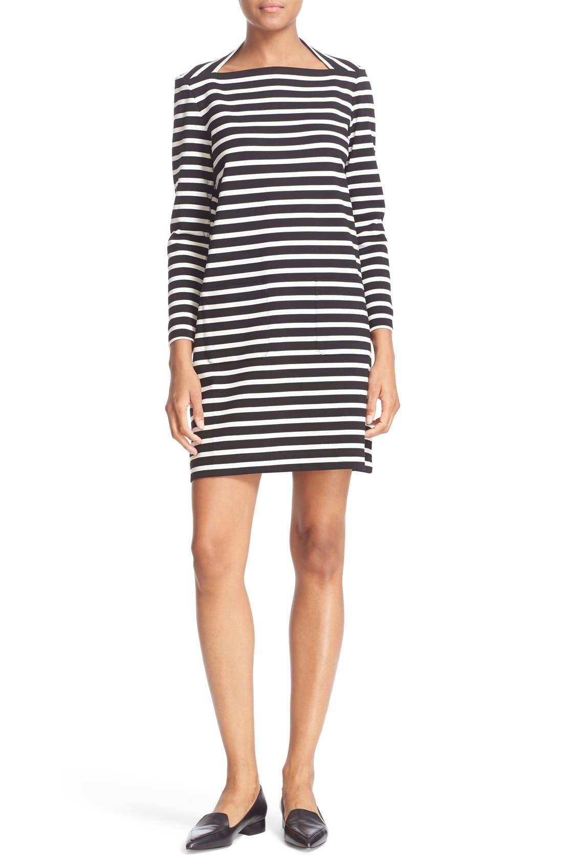Alternate Image 1 Selected - kate spade new york 'everyday' stripe patch pocket shift dress