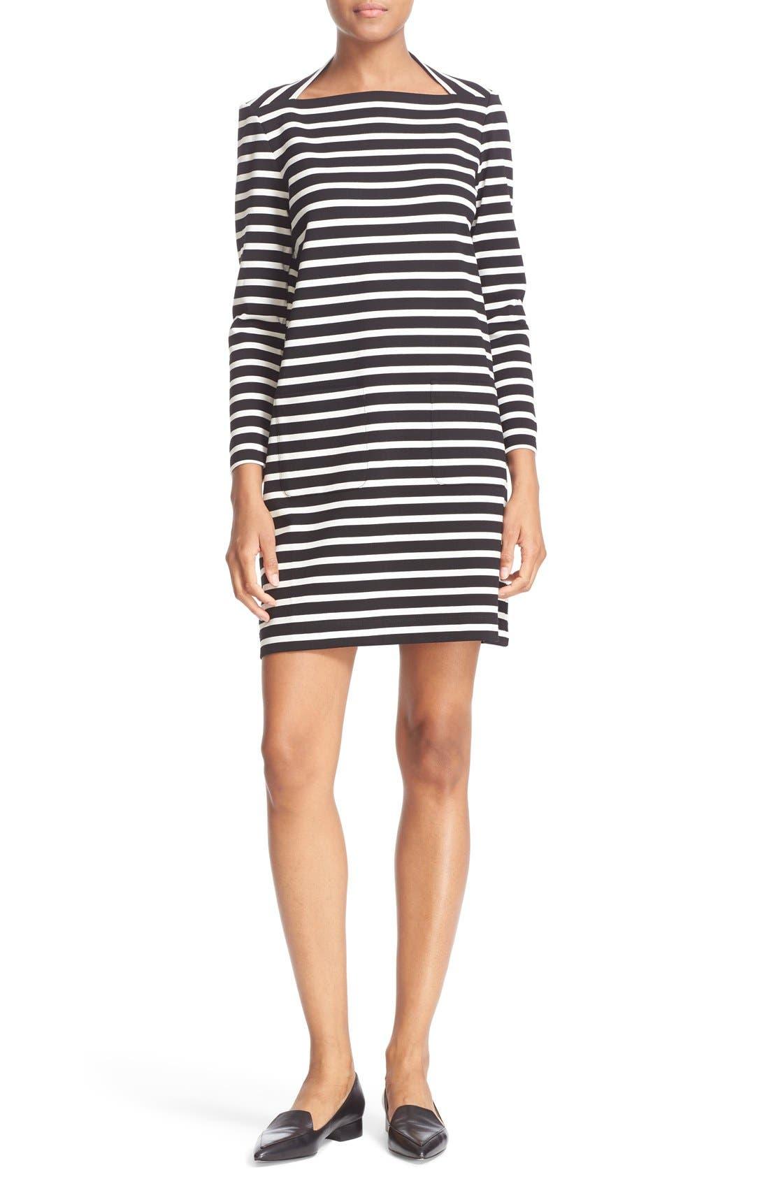 Main Image - kate spade new york 'everyday' stripe patch pocket shift dress