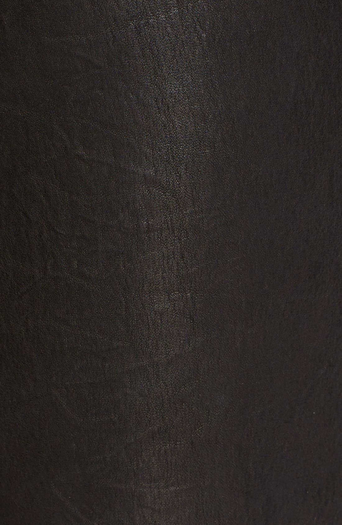 Alternate Image 5  - FRAME 'Le Skinny' Lambskin Leather Pants