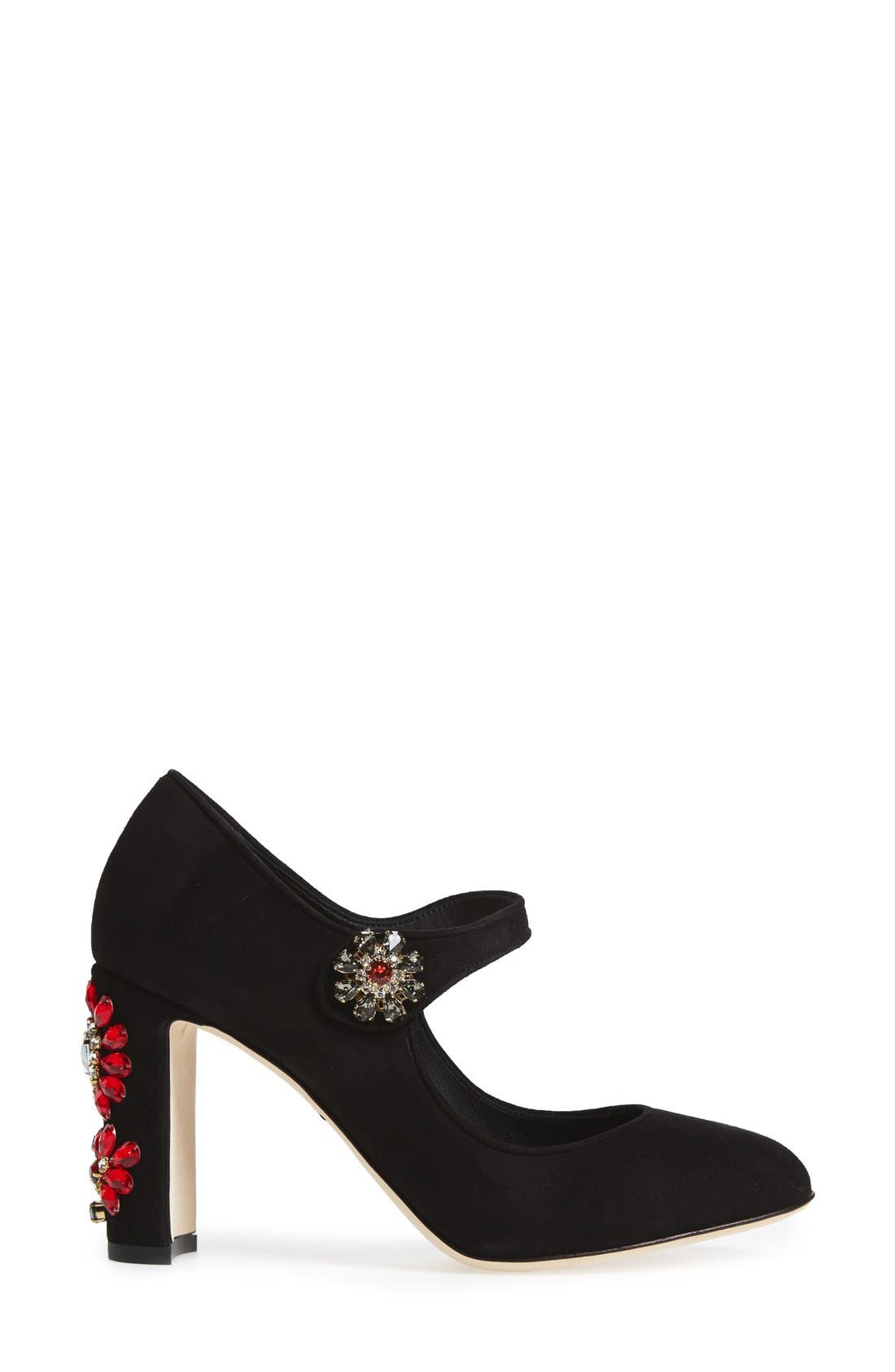 Alternate Image 4  - Dolce&Gabbana Jeweled Mary Jane Pump (Women)