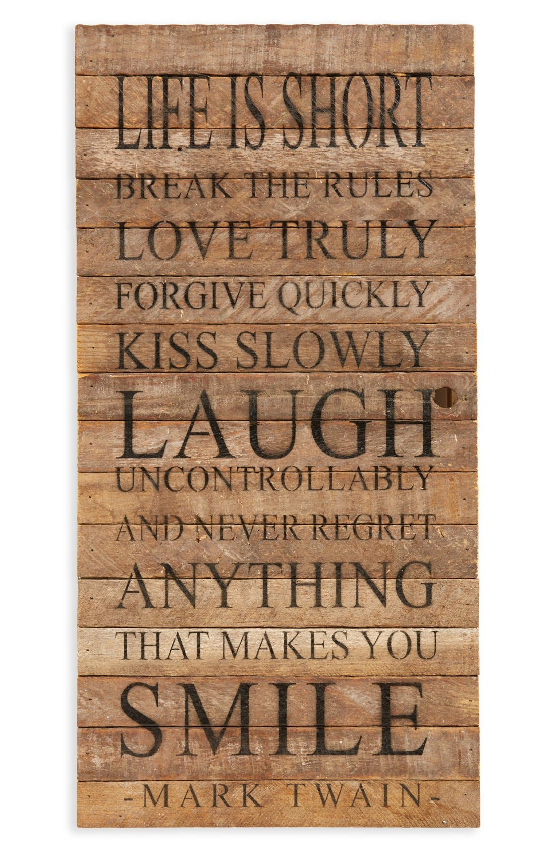 Main Image - Second Nature by Hand 'Life is Short; Break the Rules' Repurposed Wood Wall Art
