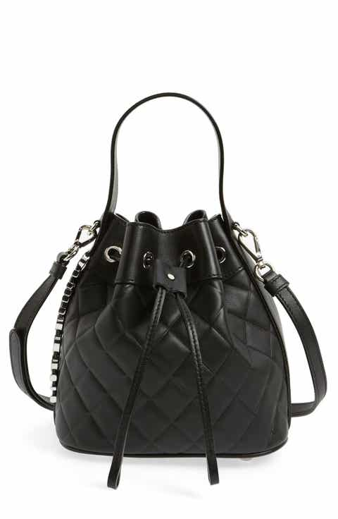 Mocscino 'Mini Letters' Quilted Bucket Bag