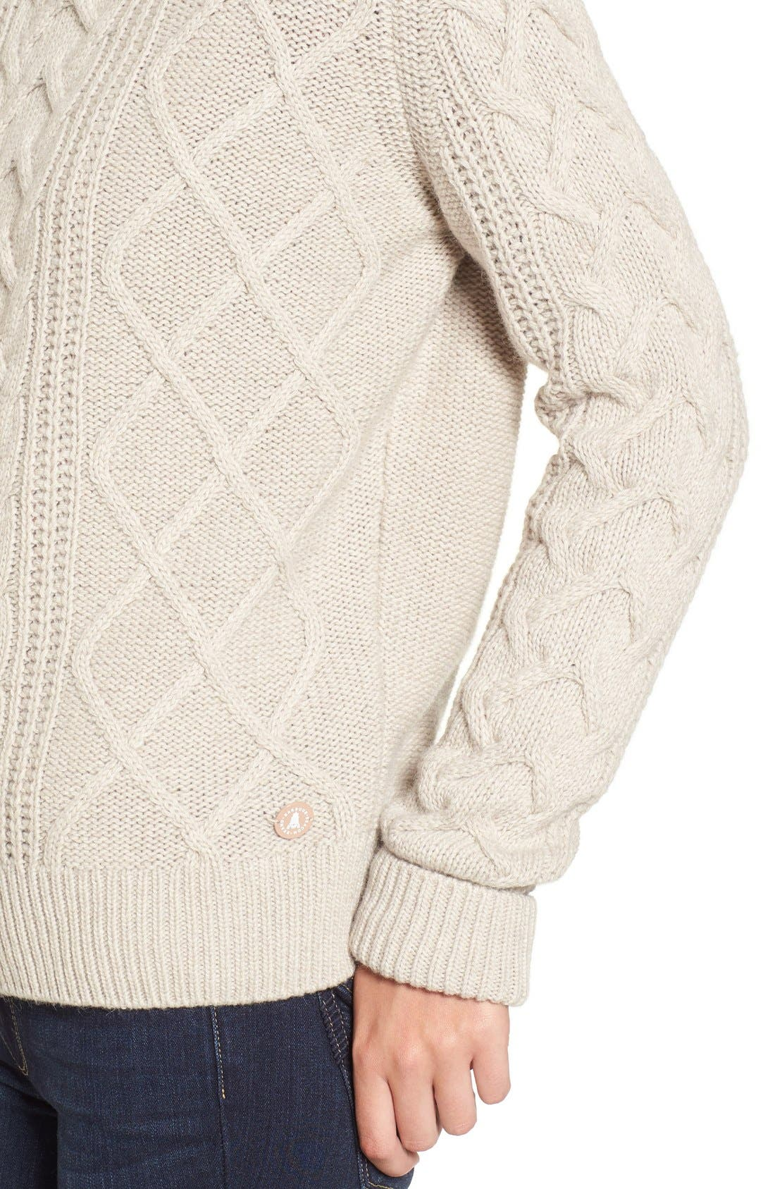 Alternate Image 4  - Barbour 'Tidewater' Cable Knit Crewneck Sweater