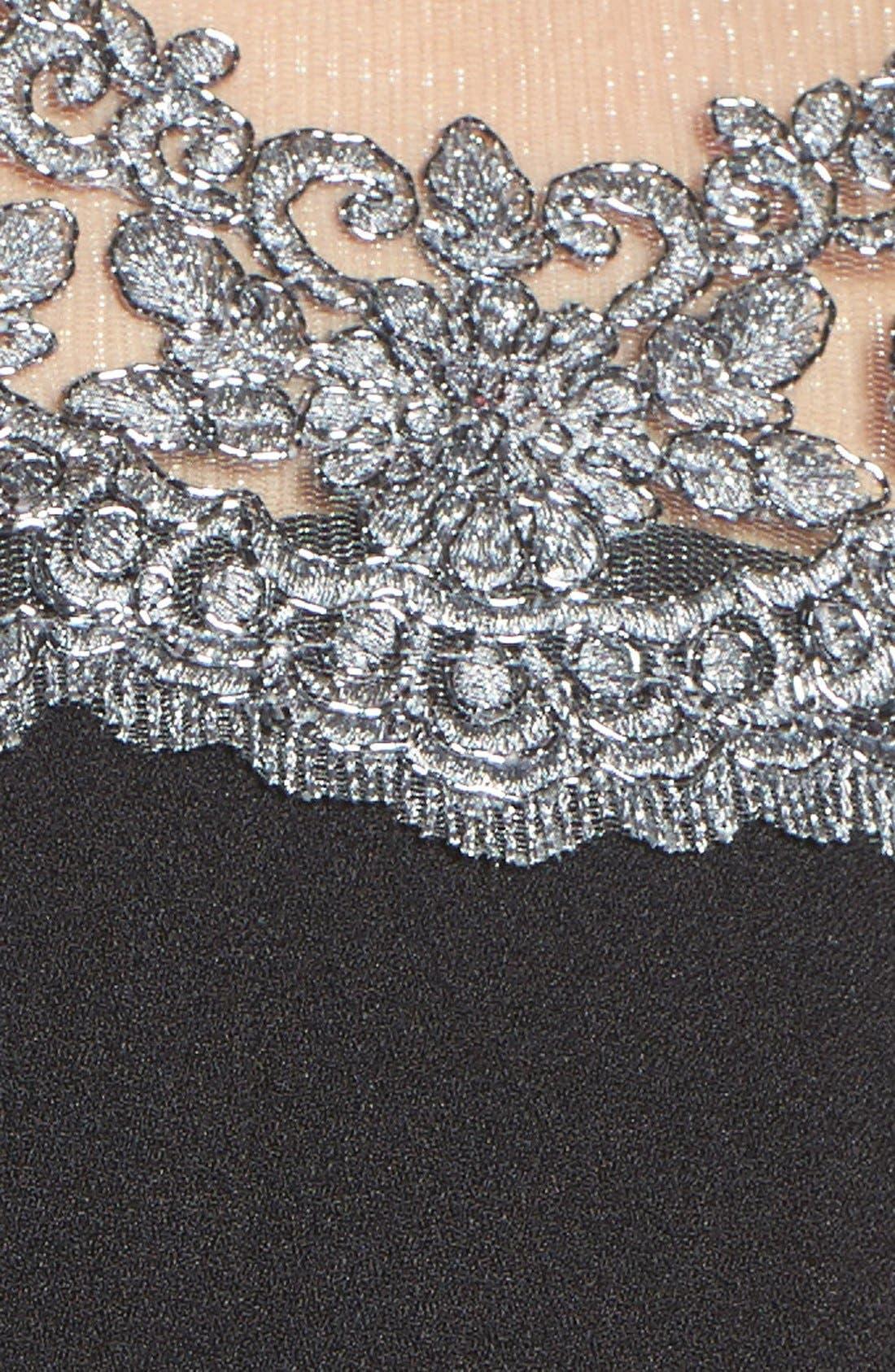 Alternate Image 6  - Chetta B Lace Yoke Fit & Flare Dress