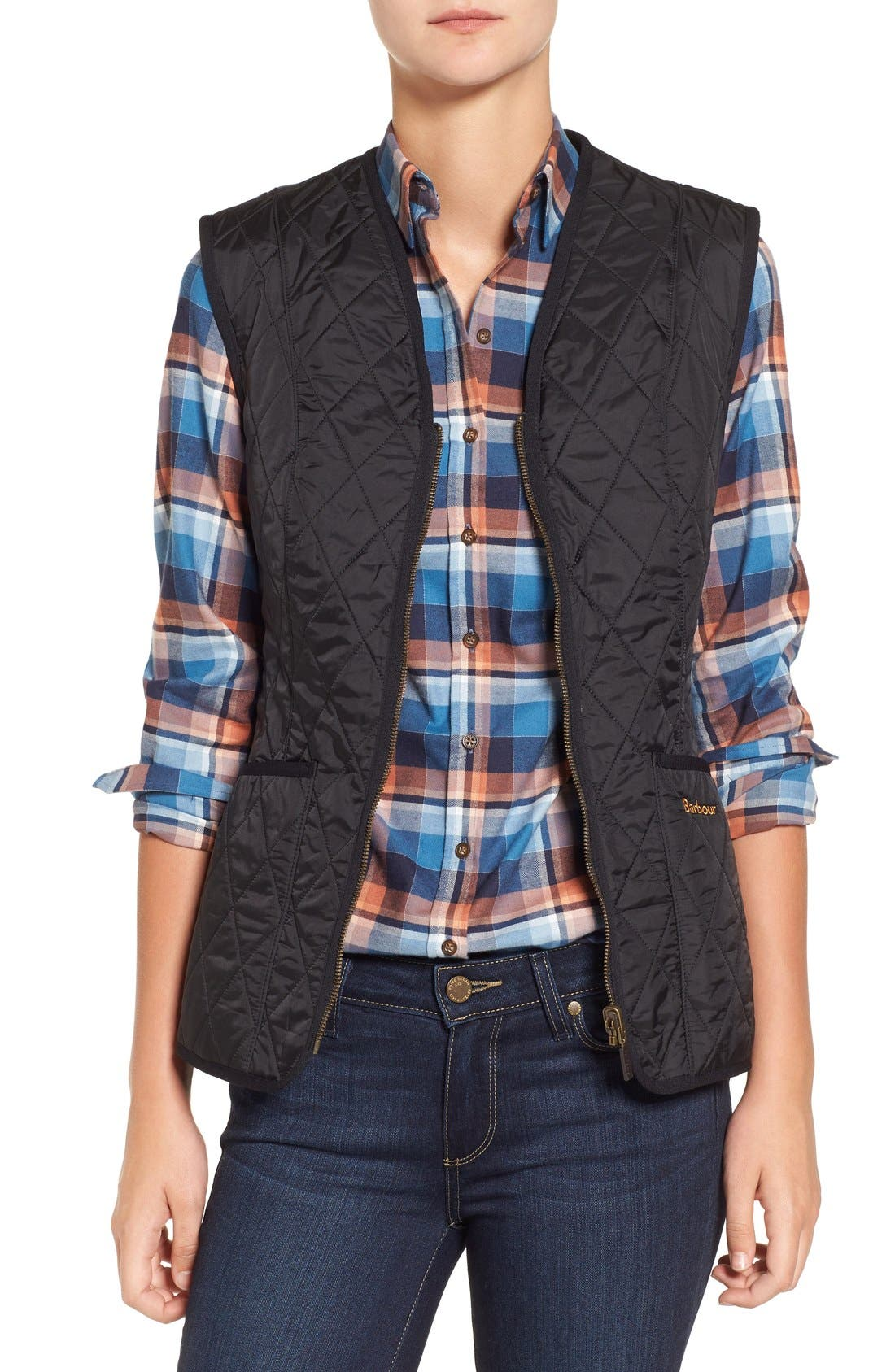 Barbour 'Betty' Fleece Lined Quilted Liner