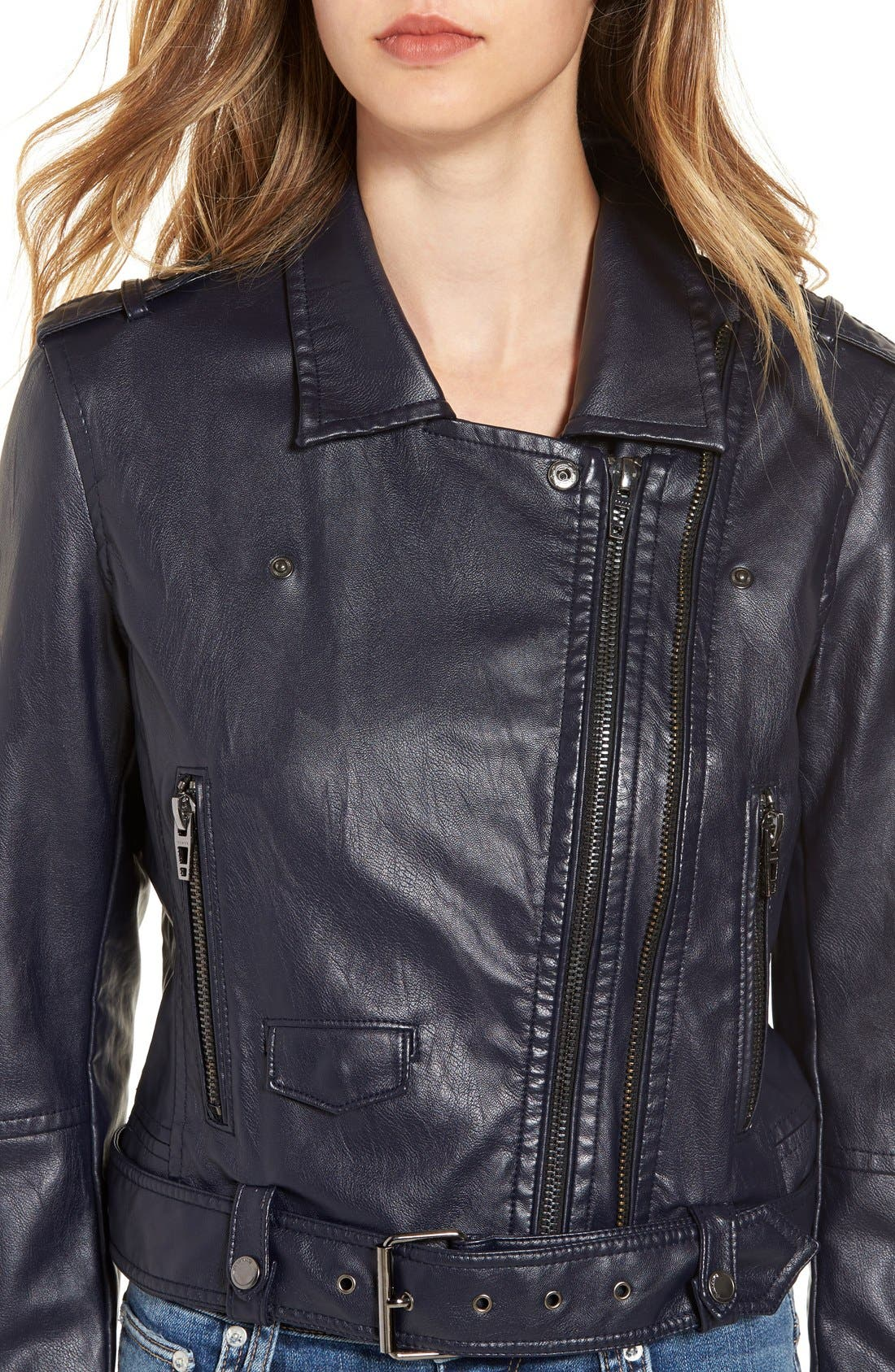 Alternate Image 4  - BLANKNYC Faux Leather Crop Moto Jacket