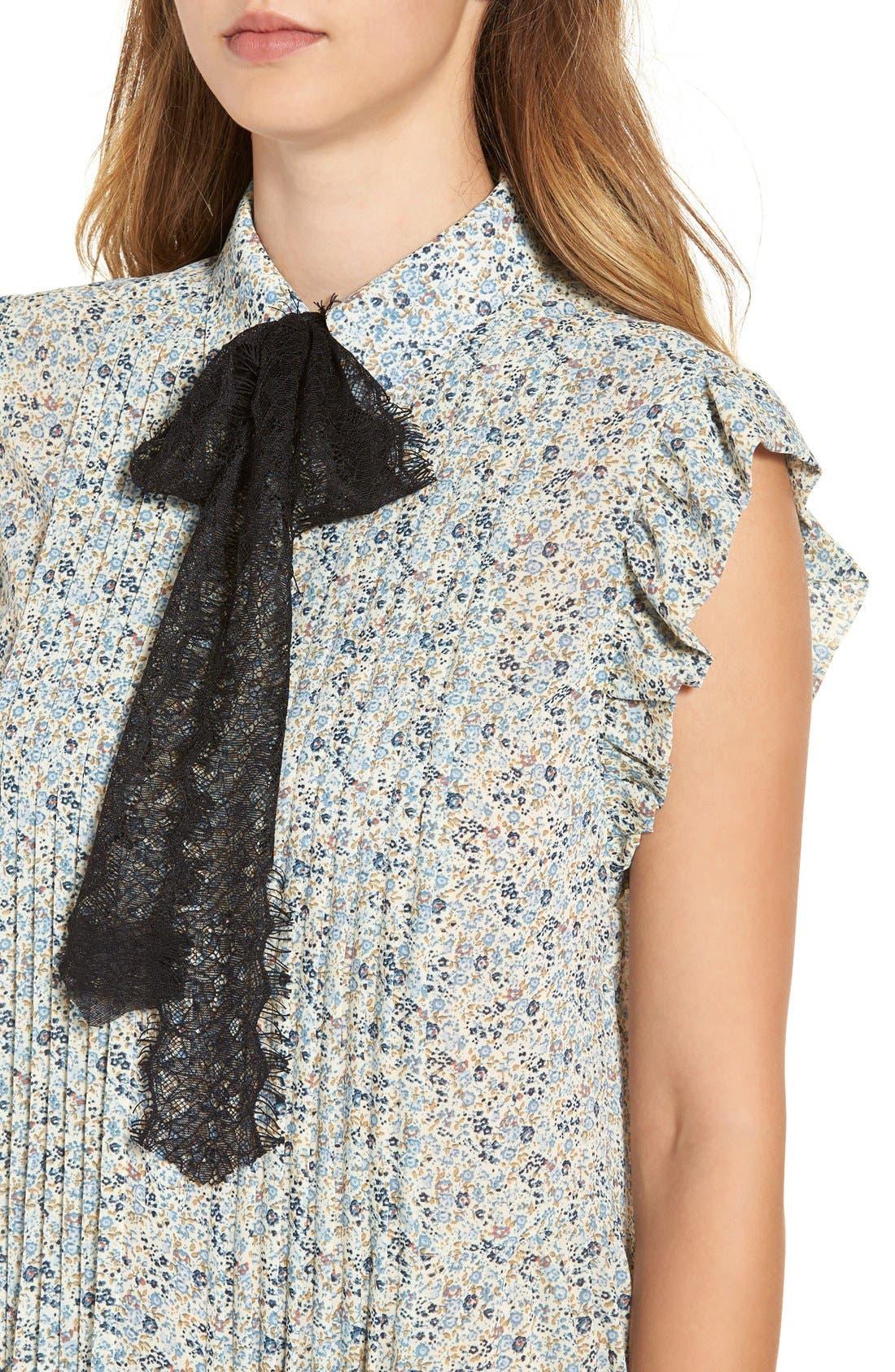 Alternate Image 5  - WAYF 'Paxton' Tie Neck Shirtdress