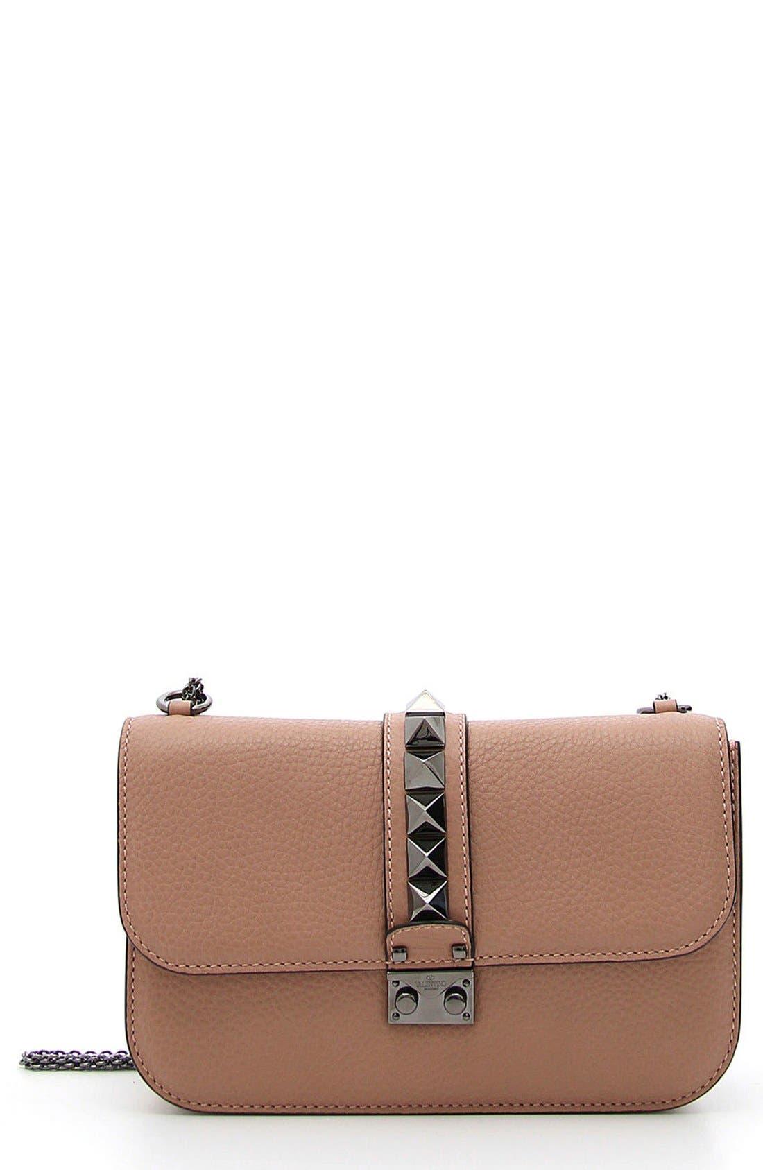 Valentino 'Rockstud - Medium Lock' Leather Shoulder Bag