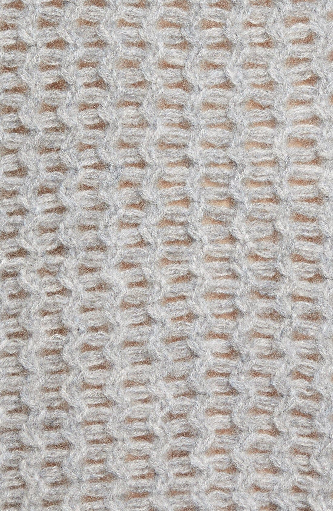 Alternate Image 6  - Halogen® Stitch Detail Cashmere Mock Neck Sweater (Regular & Petite)