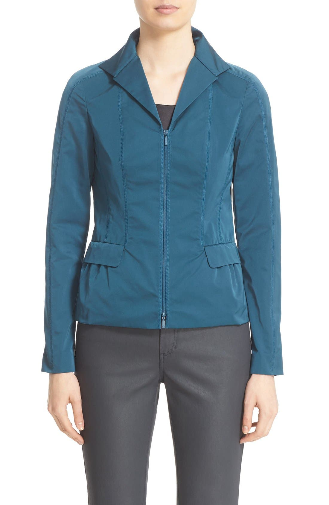 Main Image - Lafayette 148 New York 'Nala' Zip Front Jacket