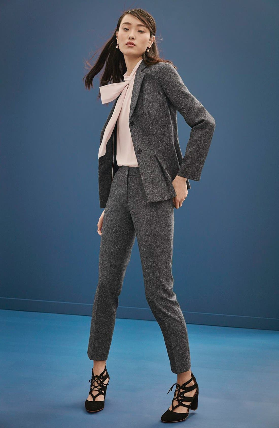 Alternate Image 2  - Vince Camuto Tweed Peplum Blazer (Regular & Petite)