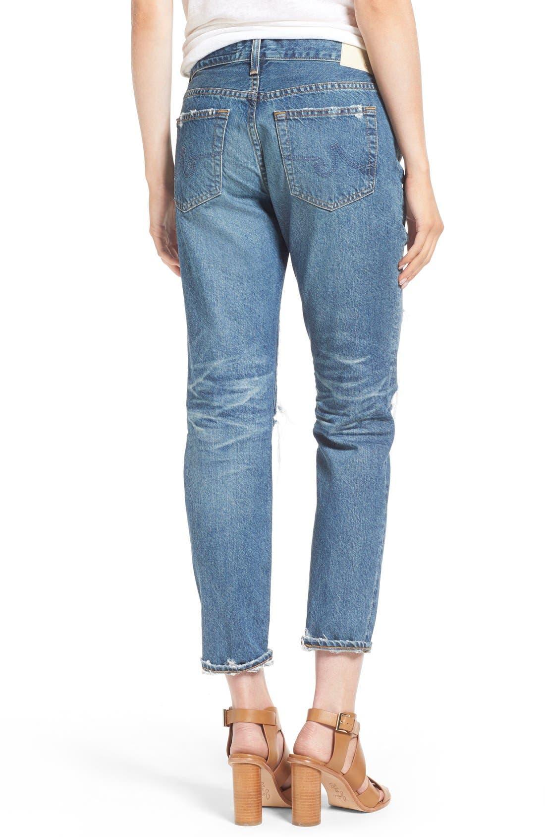 Alternate Image 2  - AG 'The Beau' Skinny Boyfriend Jeans (16 Years Hourglass Sand)
