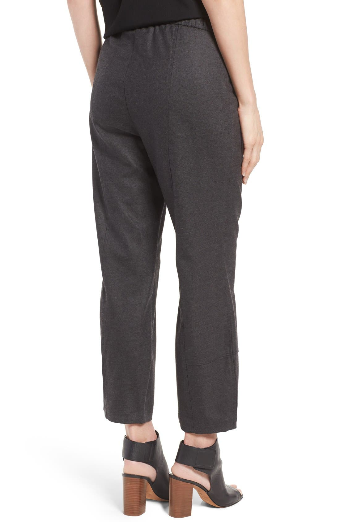 Alternate Image 2  - Eileen Fisher Stretch Flannel Twill Ankle Pants