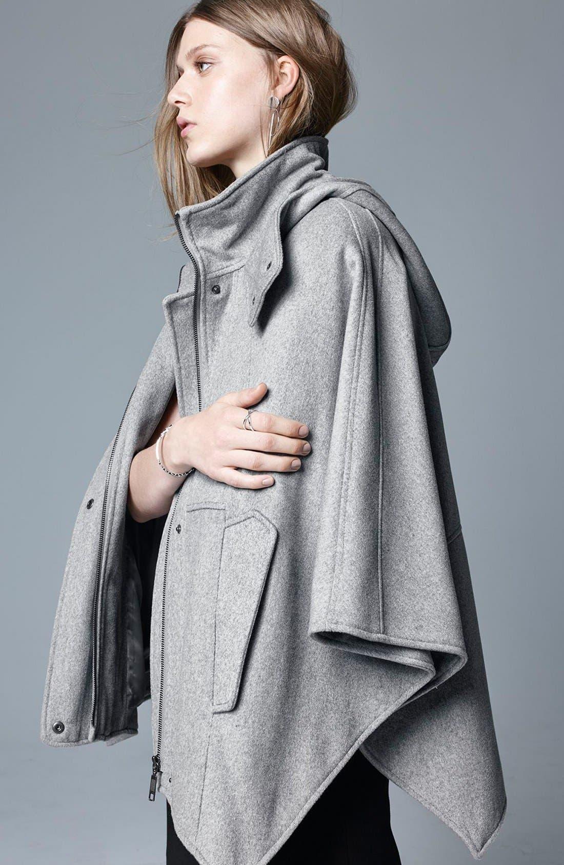 Alternate Image 6  - Halogen® Snap Front Hooded Cape