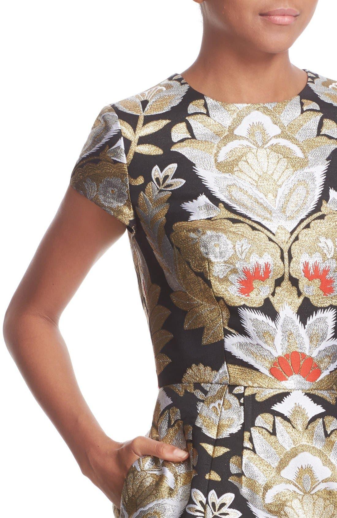 Alternate Image 4  - Ted Baker London Imoen Opulent Orient Jacquard Fit & Flare Dress