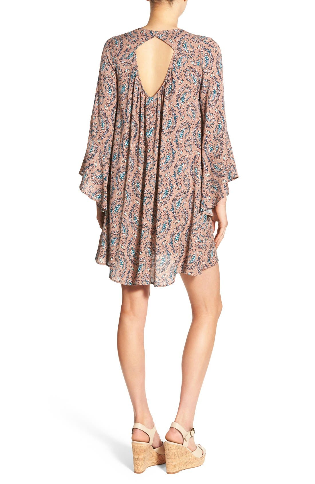 Alternate Image 2  - Lush 'Whitney' Bell Sleeve Woven Shift Dress