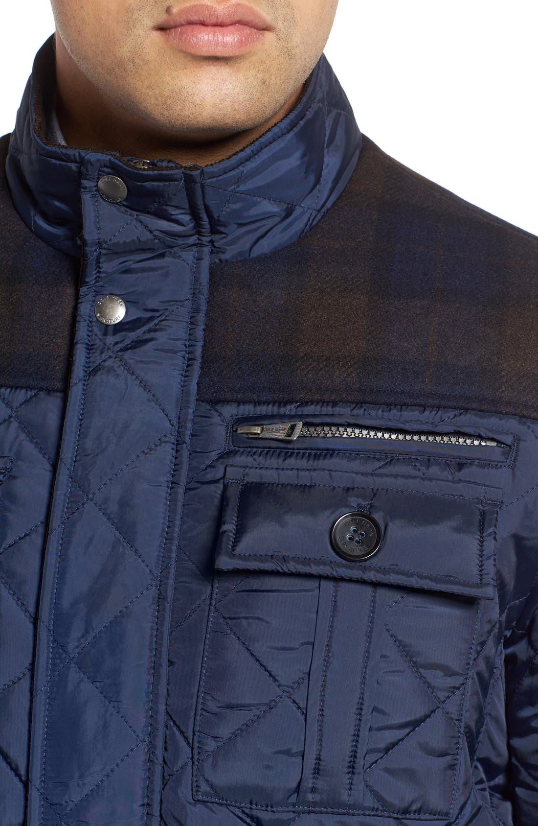 Alternate Image 4  - Cole Haan Mixed Media Quilted Jacket