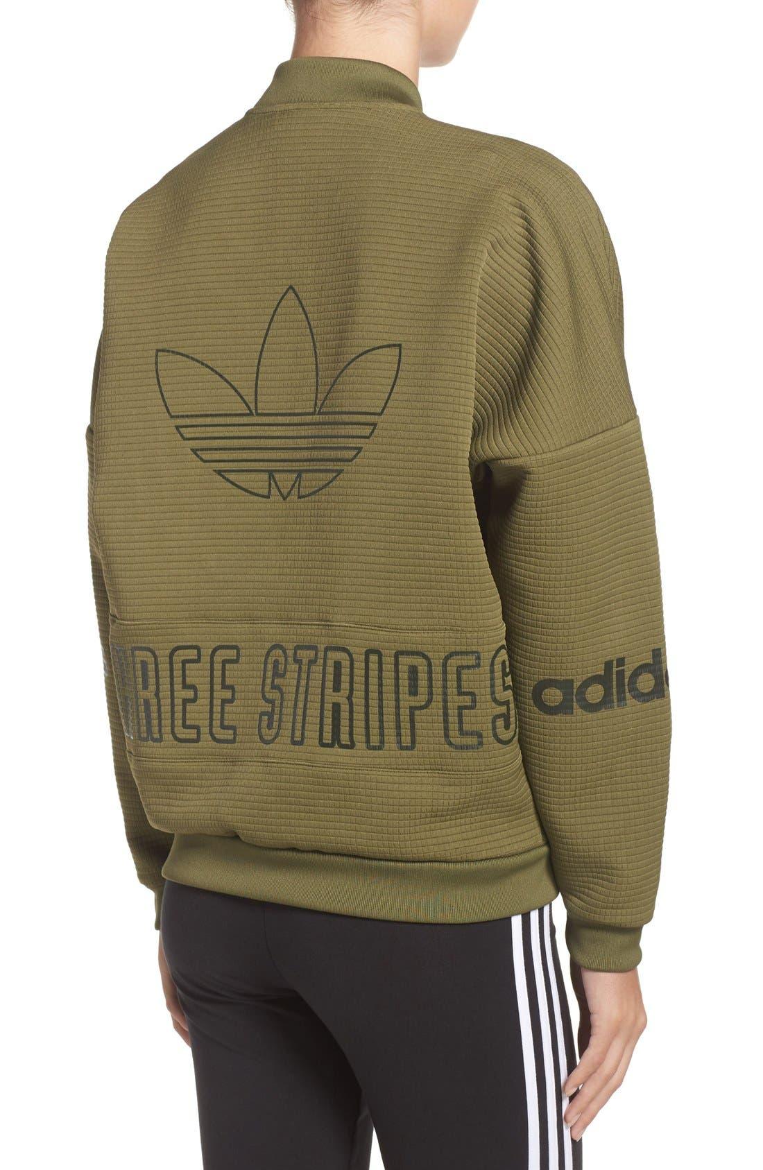 Alternate Image 2  - adidas Originals 3-Stripes Bomber Jacket
