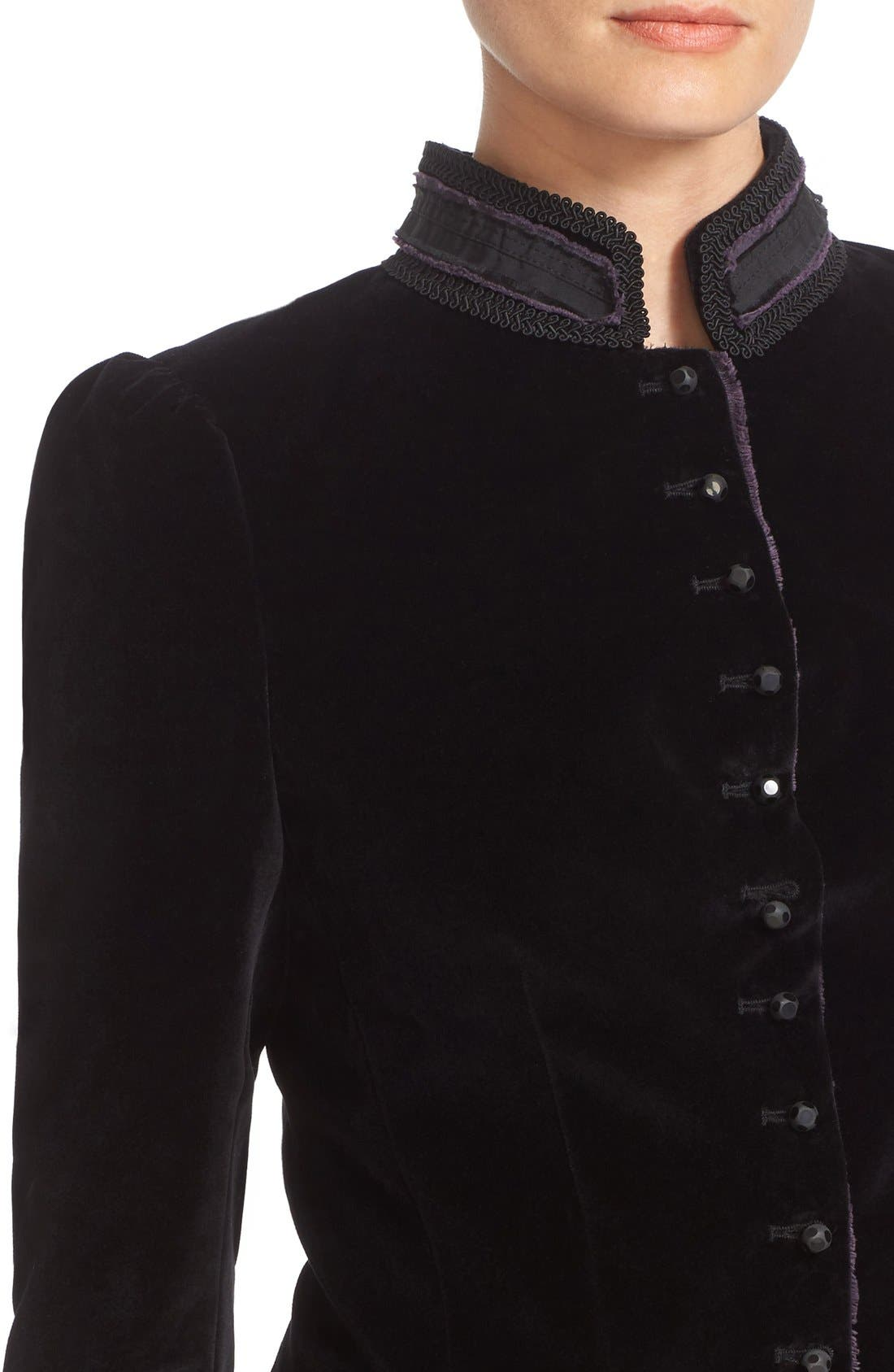Alternate Image 6  - MARC JACOBS Cotton Velvet Victorian Jacket