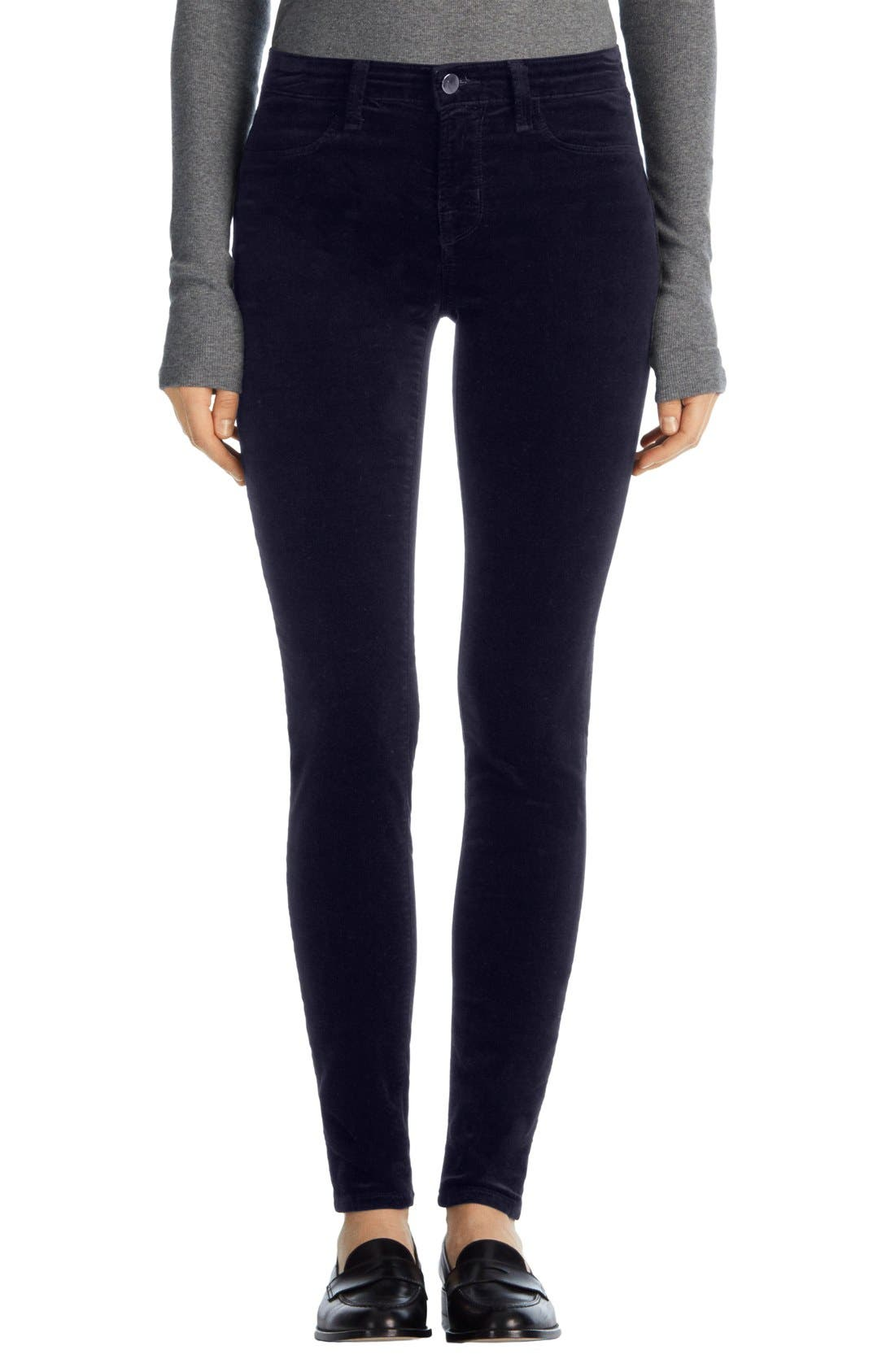 Alternate Image 1 Selected - J Brand '815' Mid Rise Velveteen Super Skinny Jeans
