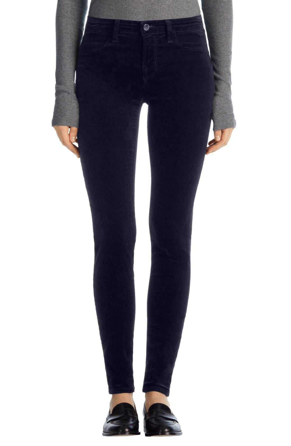 Main Image - J Brand '815' Mid Rise Velveteen Super Skinny Jeans