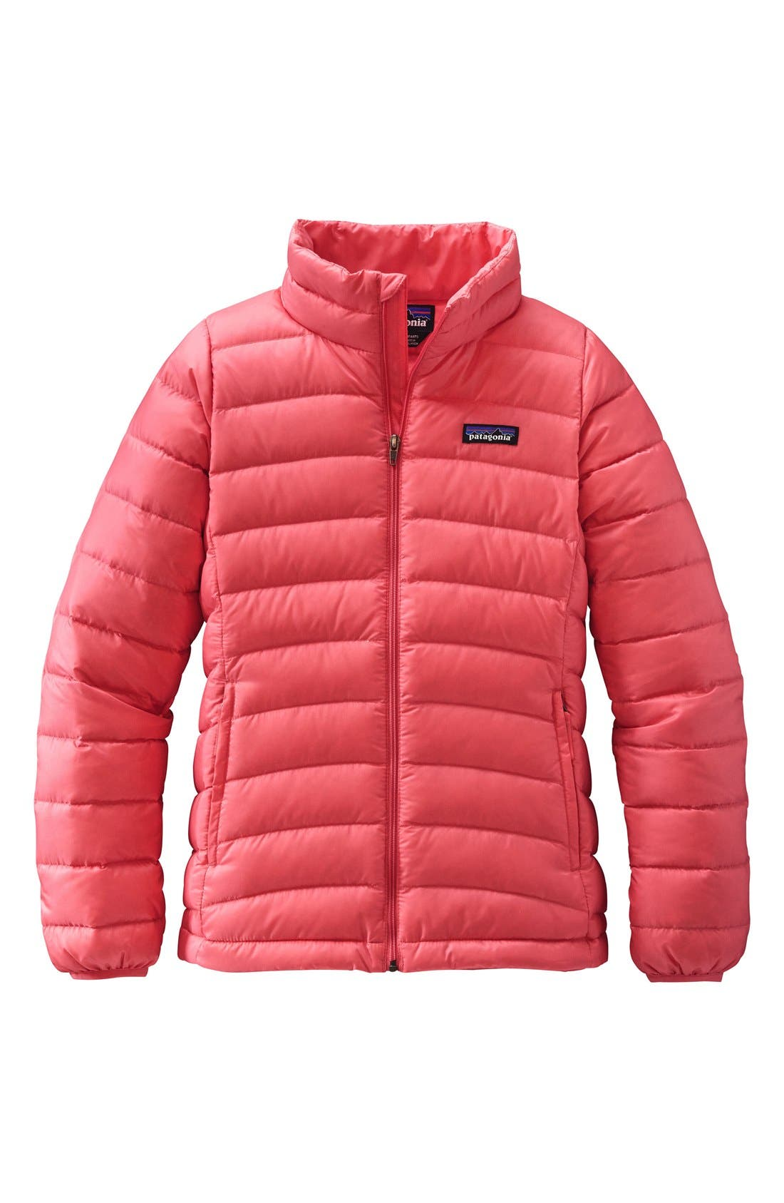 Alternate Image 1 Selected - Patagonia Water Resistant Down Insulated 'Sweater' Jacket (Little Girls & Big Girls)