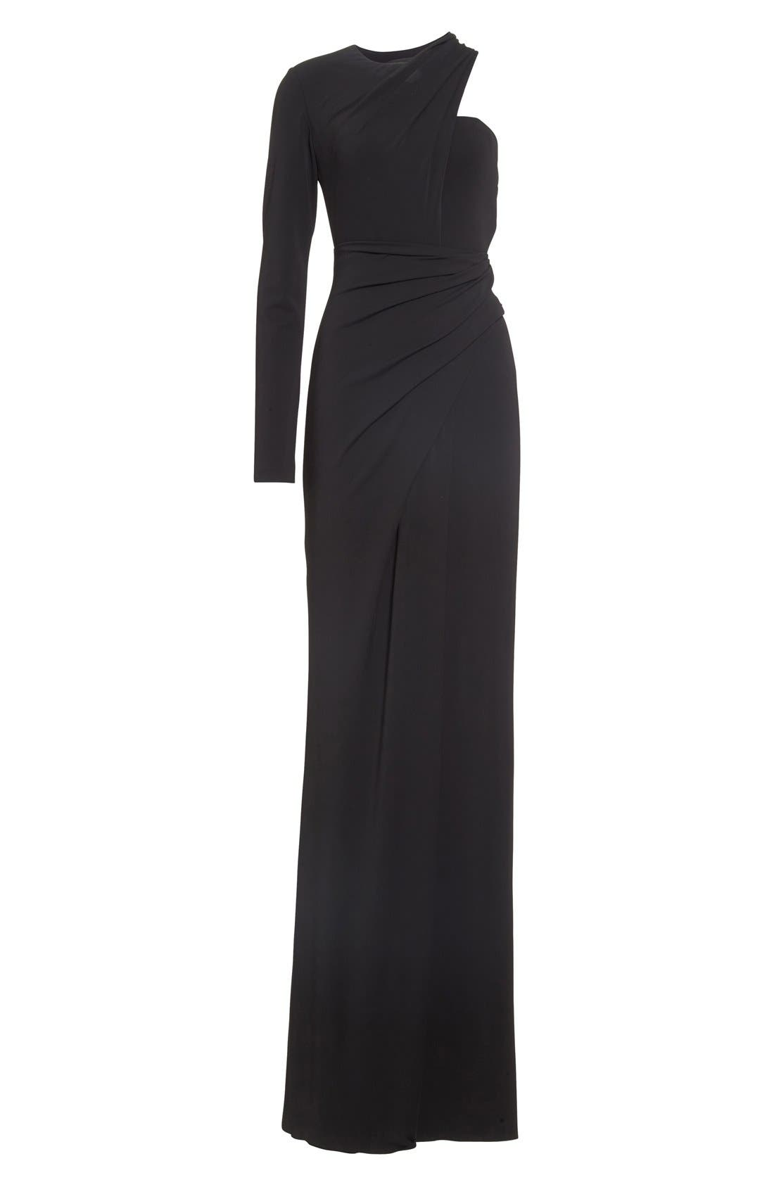 Alternate Image 4  - Alexander Wang Draped Asymmetrical One-Sleeve Gown