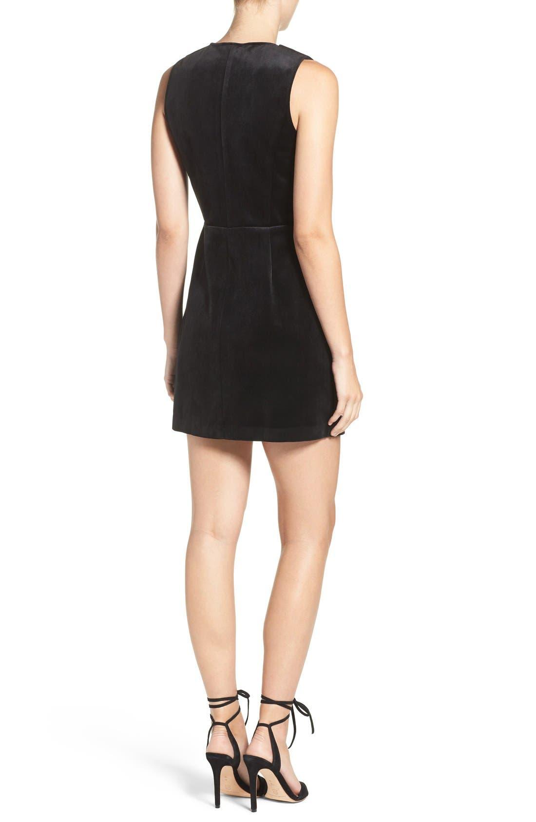 Alternate Image 2  - Greylin Velvet Tuxedo Dress