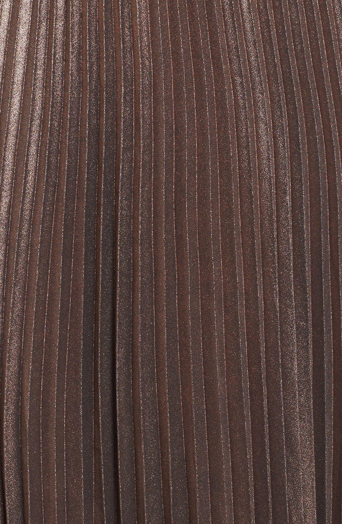 Alternate Image 5  - Leith Metallic Pleated Midi Skirt