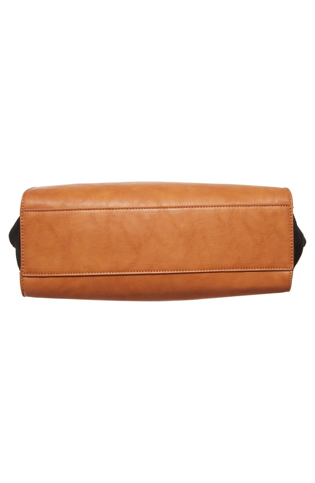 Alternate Image 6  - Sole Society 'Bridgette' Winged Faux Leather & Faux Suede Satchel